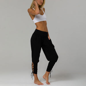 Lace-up Casual Leggings