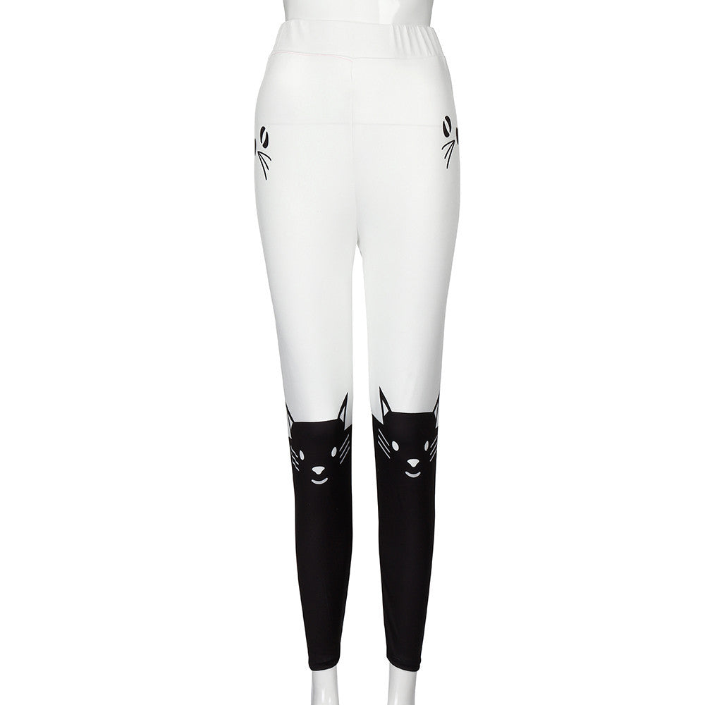 Kitty Color Block Fitness Pant