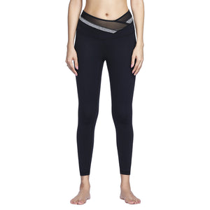 Criss Cross Mesh High Waist Yoga Pant