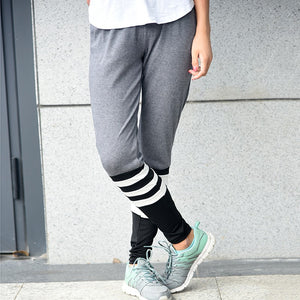 Casual Stripe Loose Fit Workout Pant