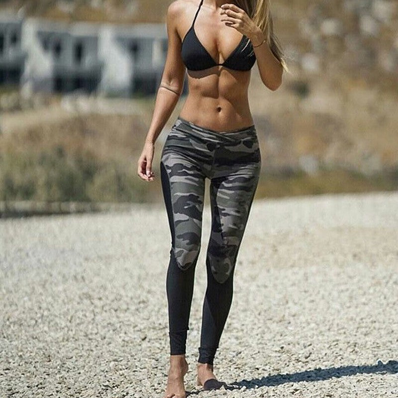 Camo Inspired Yoga Fit Pant