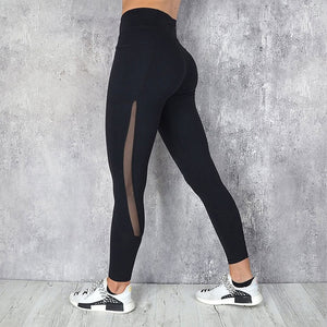 Mesh Stitch Side Pocket Push Up Legging