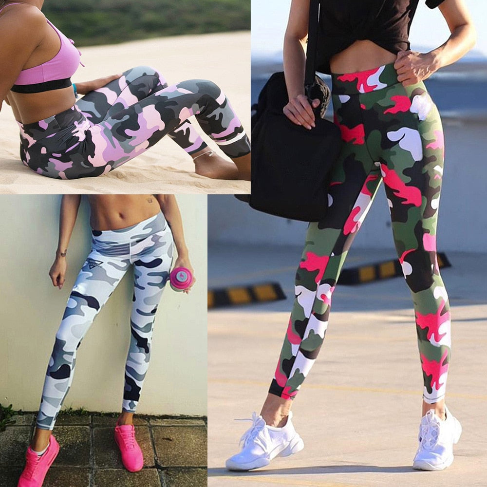 Camouflage Printed Leggins Sport Women Fitness Workout Fitness Pants Running Jogging Pant Ropa Deportiva Mujer Gym