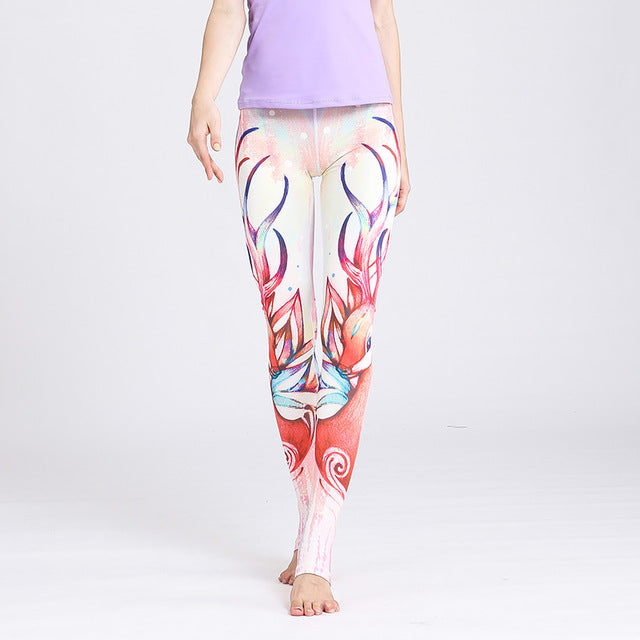 Mermaid Print High waist Sport Leggings