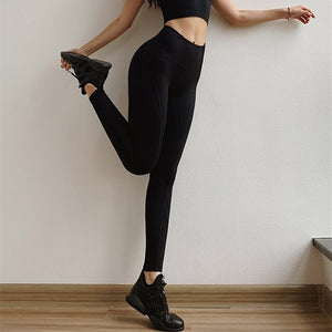 Criss Cross Waist Activewear Comfy Leggings