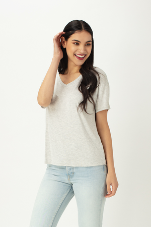 Becca Relaxed Fit V-Neck