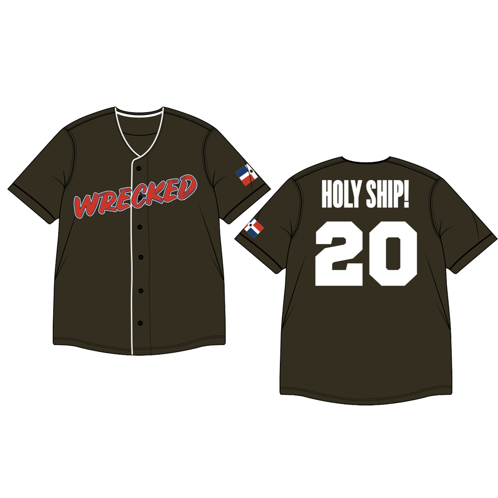 Holy Ship! Wrecked 2020 Baseball Jersey