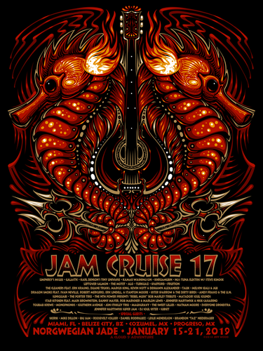 Jam Cruise 17 Seahorse Poster - 2019