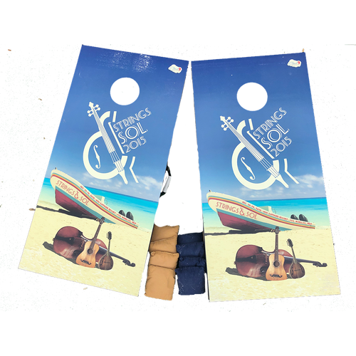 2015 Strings & Sol Cornhole Boards (Includes Shipping)*