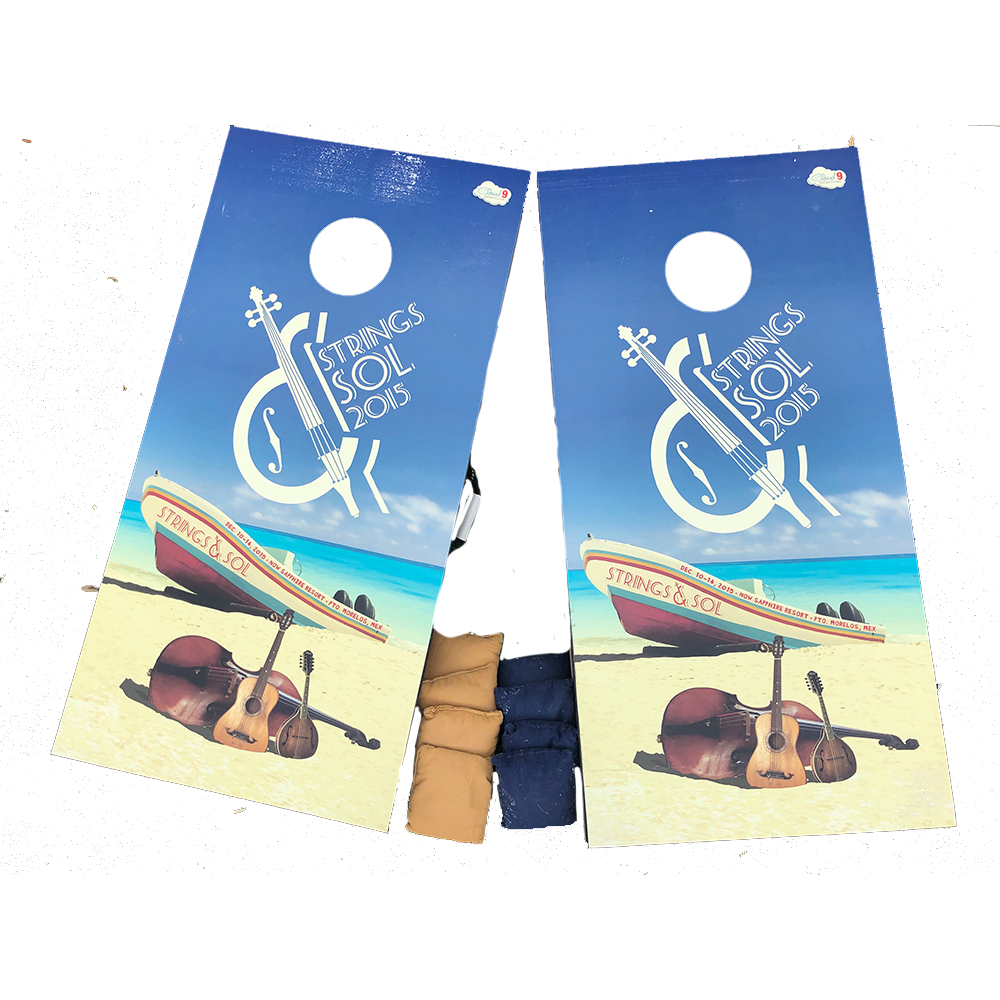 2015 Strings & Sol Cornhole Boards (Includes Shipping)
