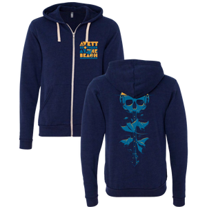 2020 At the Beach Stingray Zip Up Hoodie