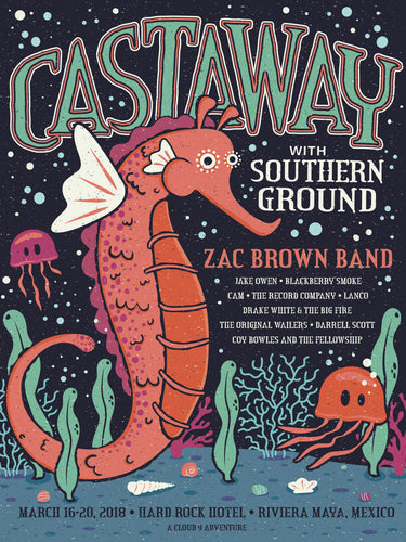 Castaway with Southern Ground Poster - 2018