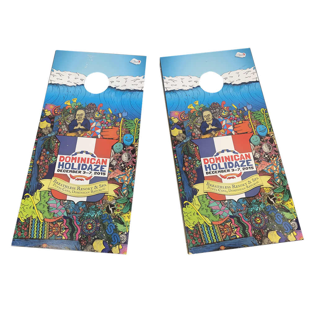 Dominican Holidaze 2015 Cornhole Boards (Includes Shipping)*