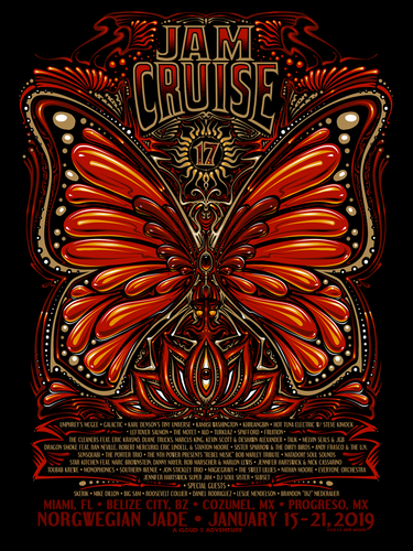 Jam Cruise 17 Butterfly Poster - 2019