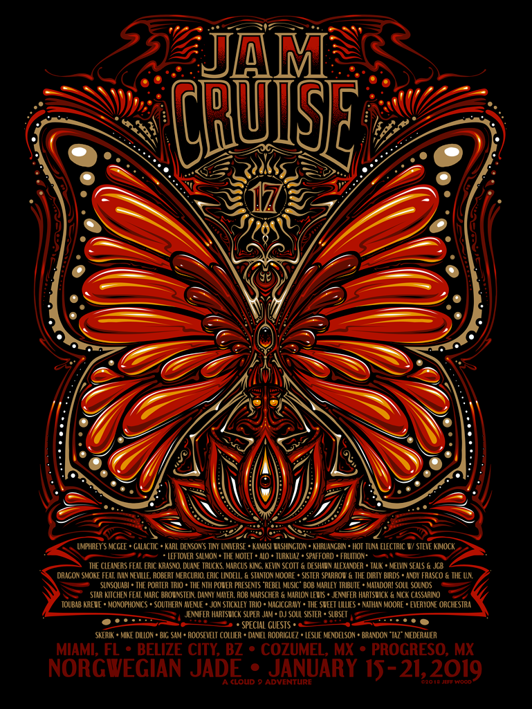 Jam Cruise 17 Butterfly Poster (2019)