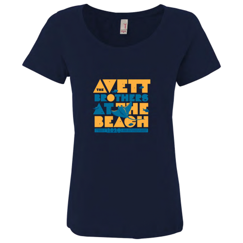 At the Beach 2020 Women's Cut Stingray T-Shirt