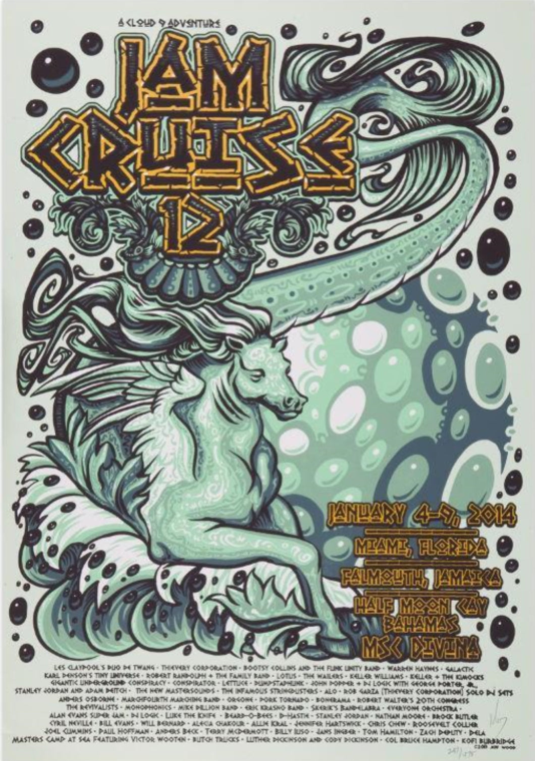 Jam Cruise 12 Poster - 2014