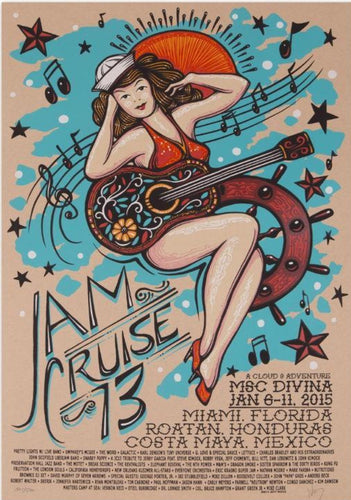 Jam Cruise 13 Sailor Girl Poster - 2015