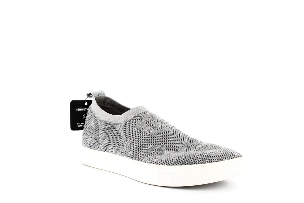 Yieldings Discount Shoes Store's Keeley Floral Stretch Knit Sneakers by Kenneth Cole in Light Grey