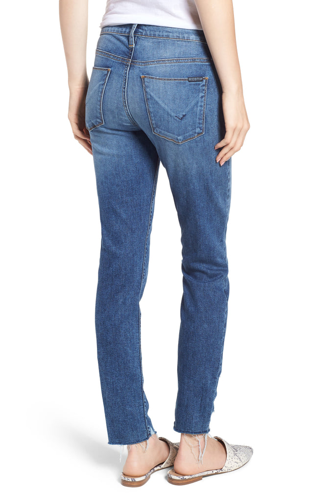 Yieldings Discount Clothing Store's Skinny Cropped Jeans by Hudson in Reflex Blue
