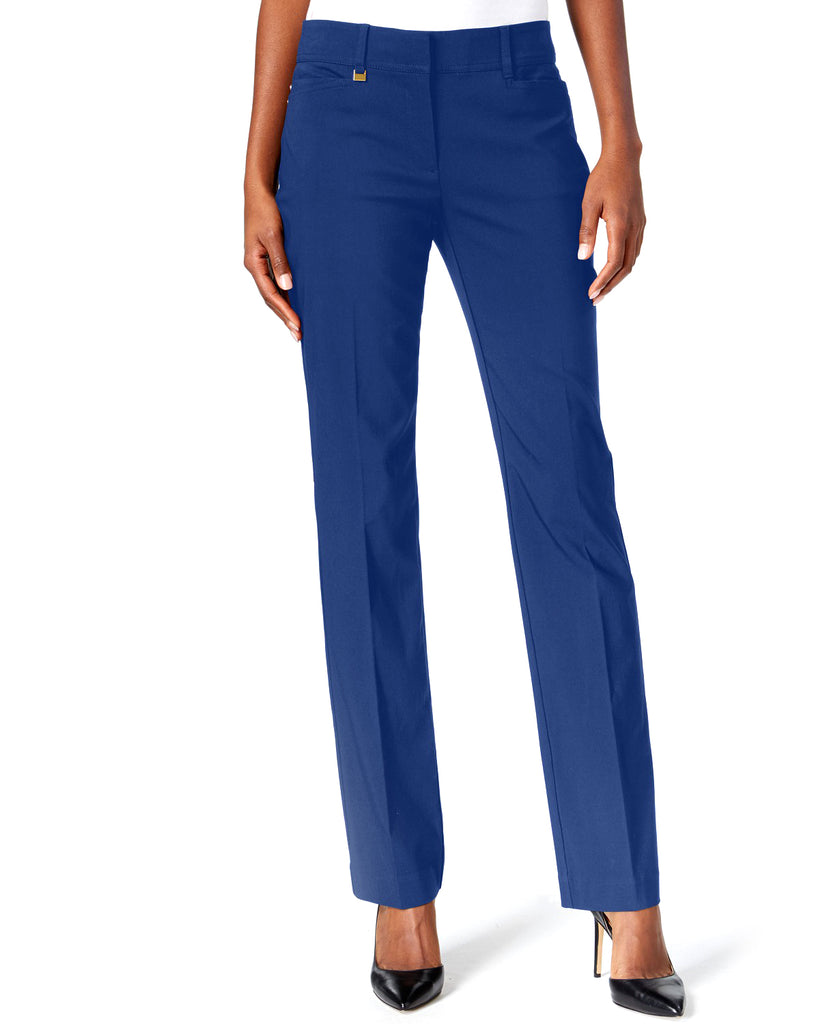 Yieldings Discount Clothing Store's Curvy-Fit Slim-Leg Pants by JM Collection in Bright Sapphire