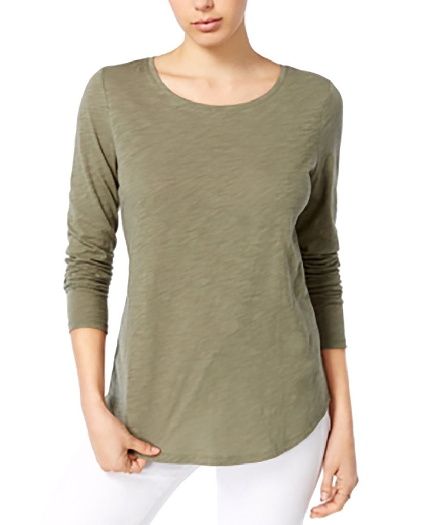 Yieldings Discount Clothing Store's Long-Sleeve Top by Maison Jules in Dusty Olive