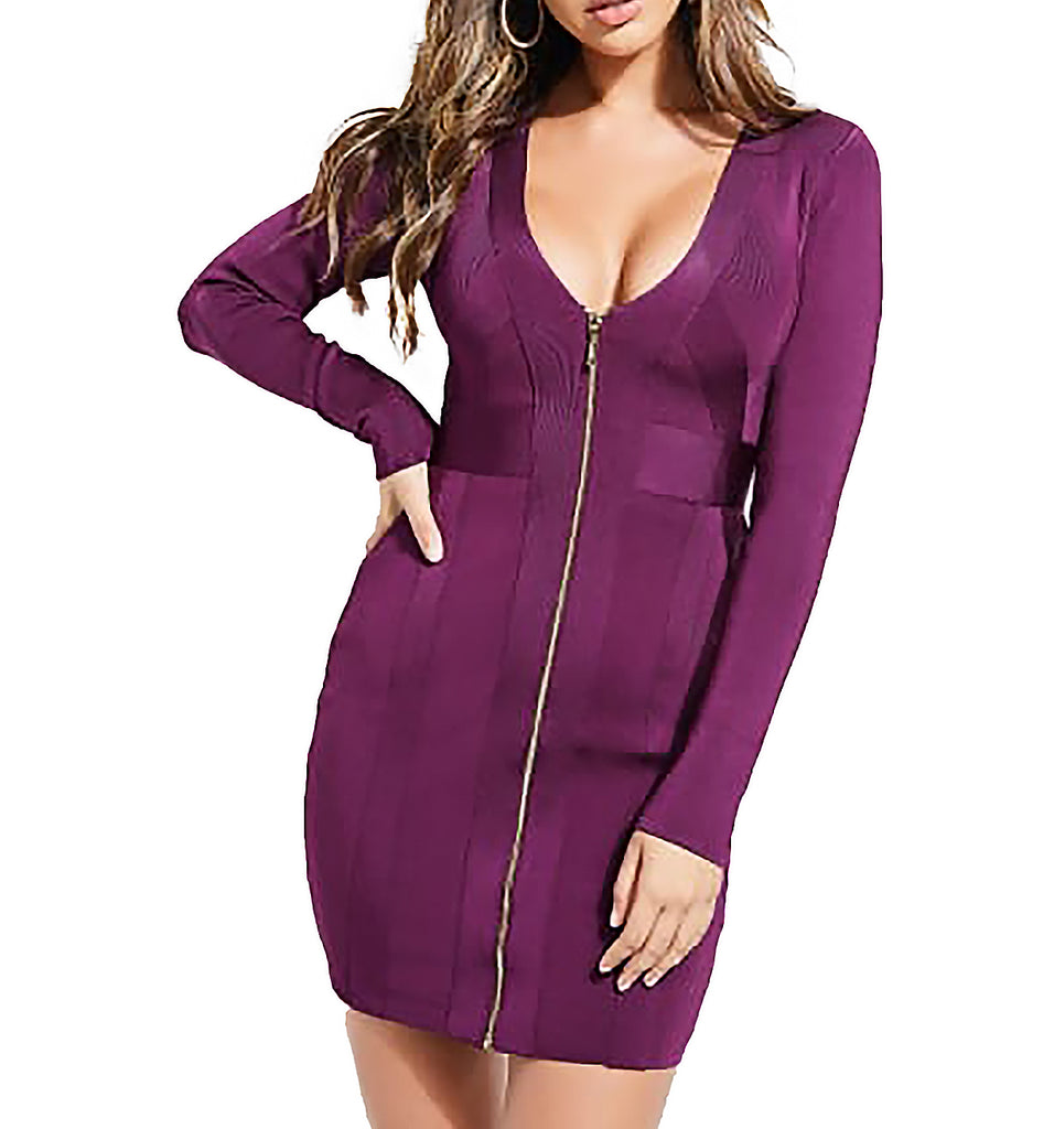 Guess | Mirage Zip-Front Bandage Dress