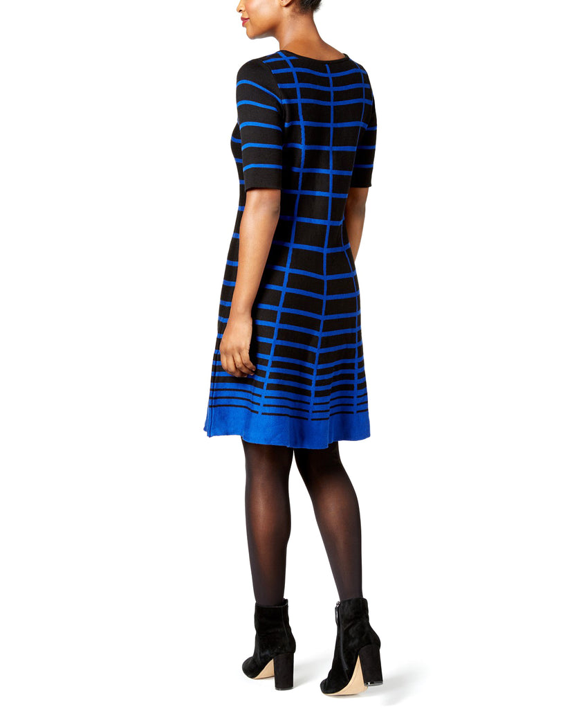 Yieldings Discount Clothing Store's Striped Fit & Flare Dress by NY Collection Petite in Arien