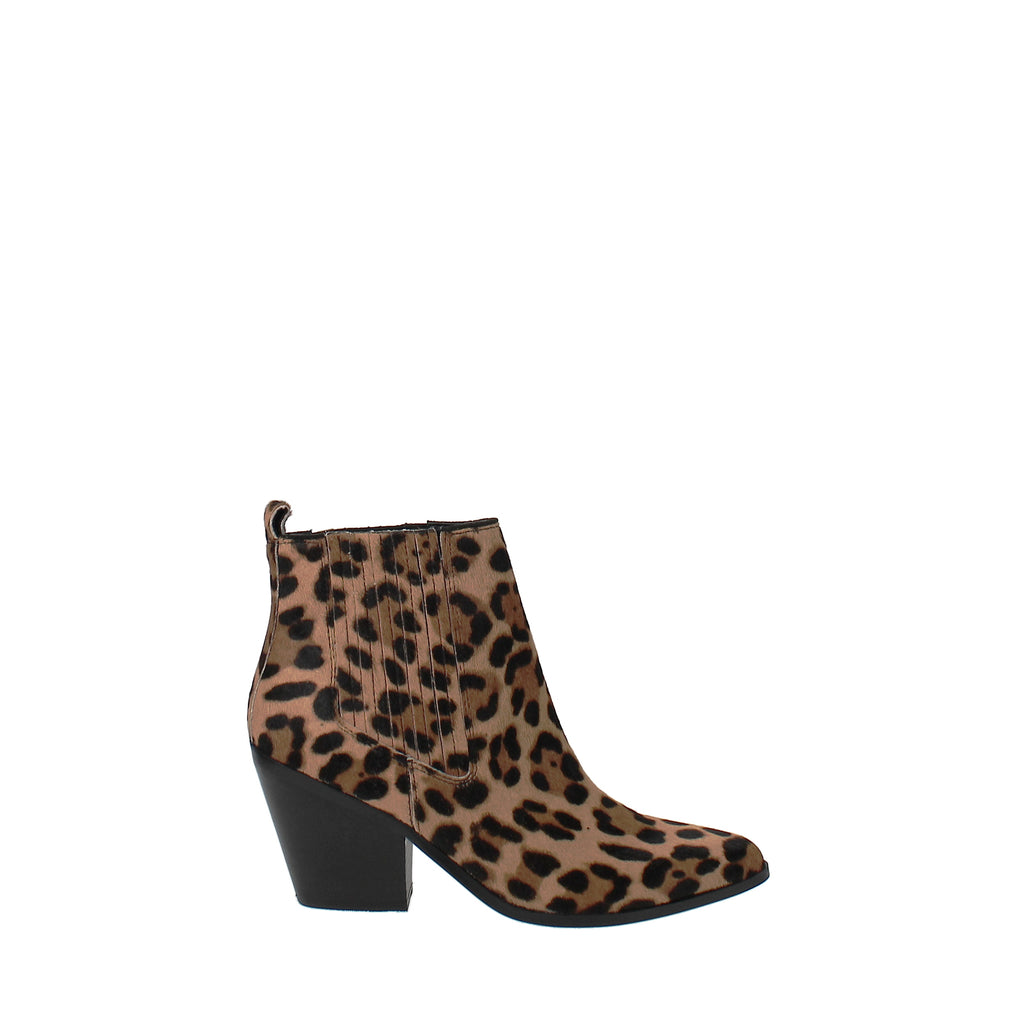 Yieldings Discount Shoes Store's Lexa Western Ankle Booties by Nine West in Natural Multi Pony