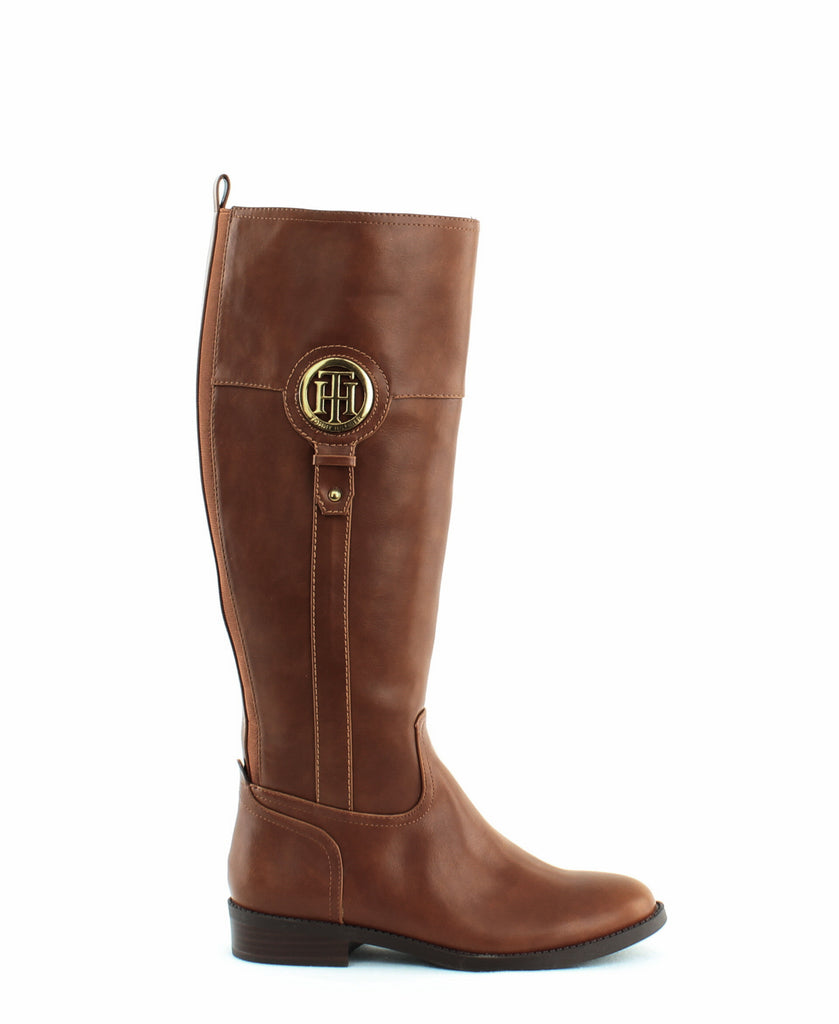 Yieldings Discount Shoes Store's Ilia 2 Tall Boot by Tommy Hilfiger in Medium Brown