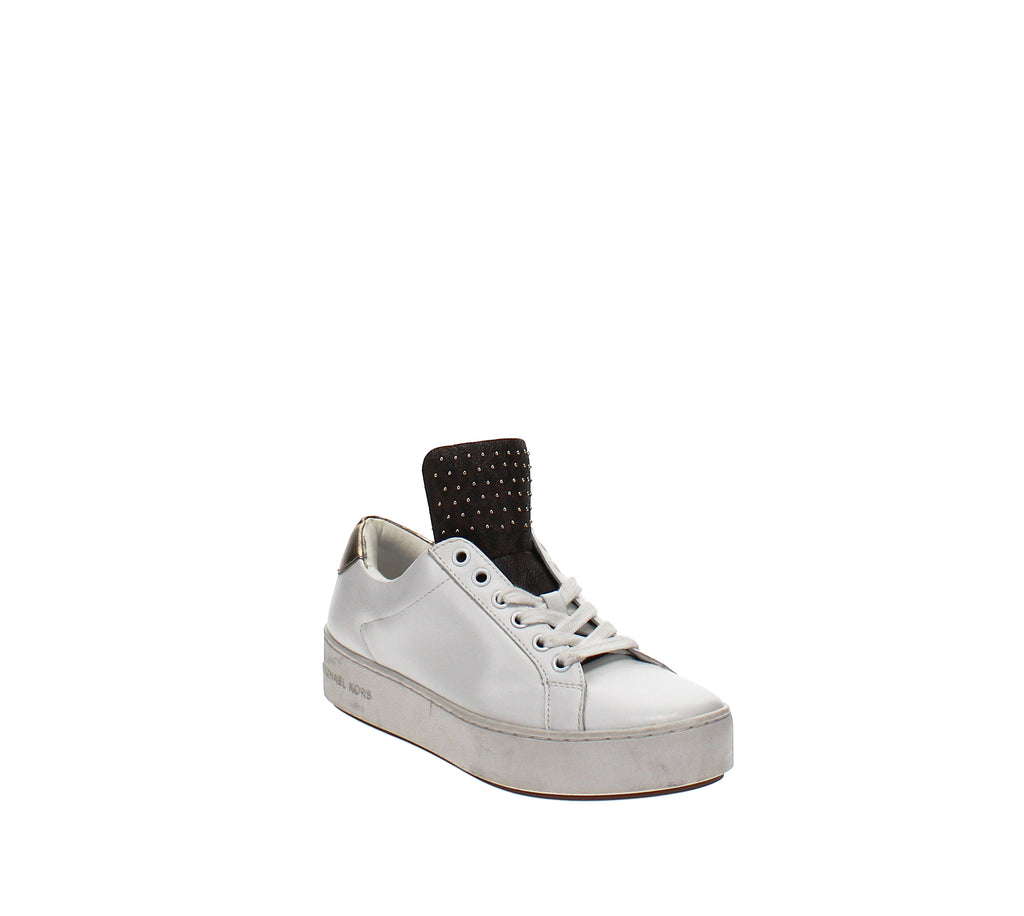 Yieldings Discount Shoes Store's Mindy Lace-Up Sneakers by MICHAEL Michael Kors in White