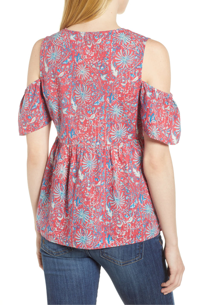 Lucky Brand | Draft Printed Blouse