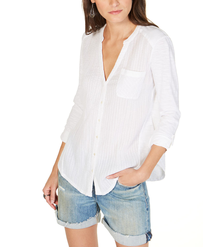 Lucky Brand | Striped Henley Top
