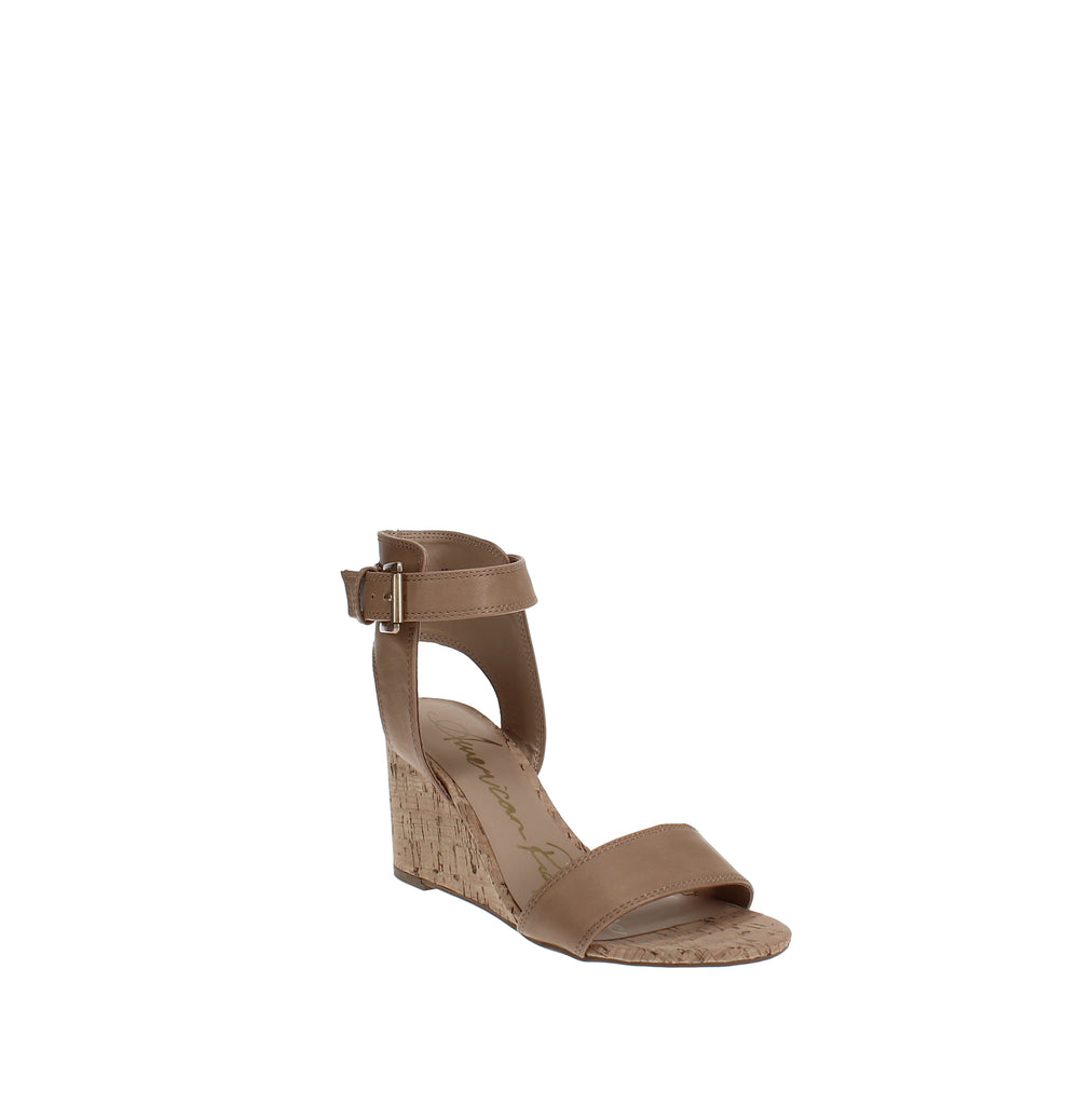 Yieldings Discount Shoes Store's Aislin Wedge Sandals by American Rag in Light Tan
