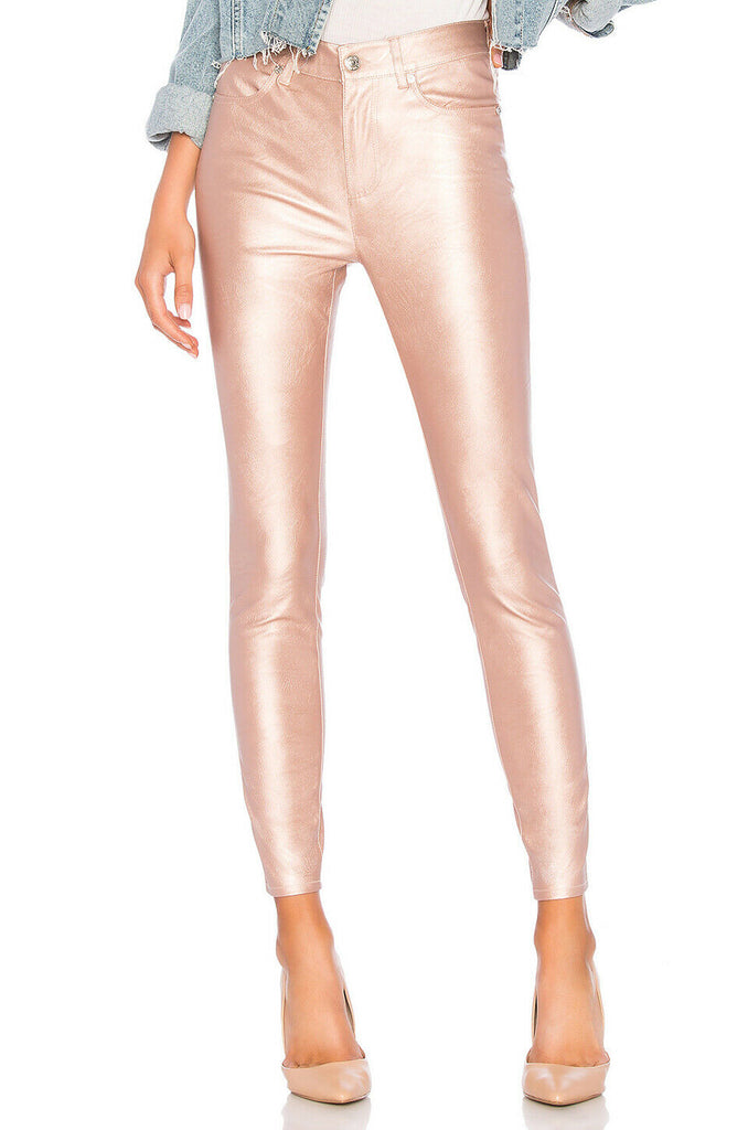 Free People | Metallic Faux Leather Pants
