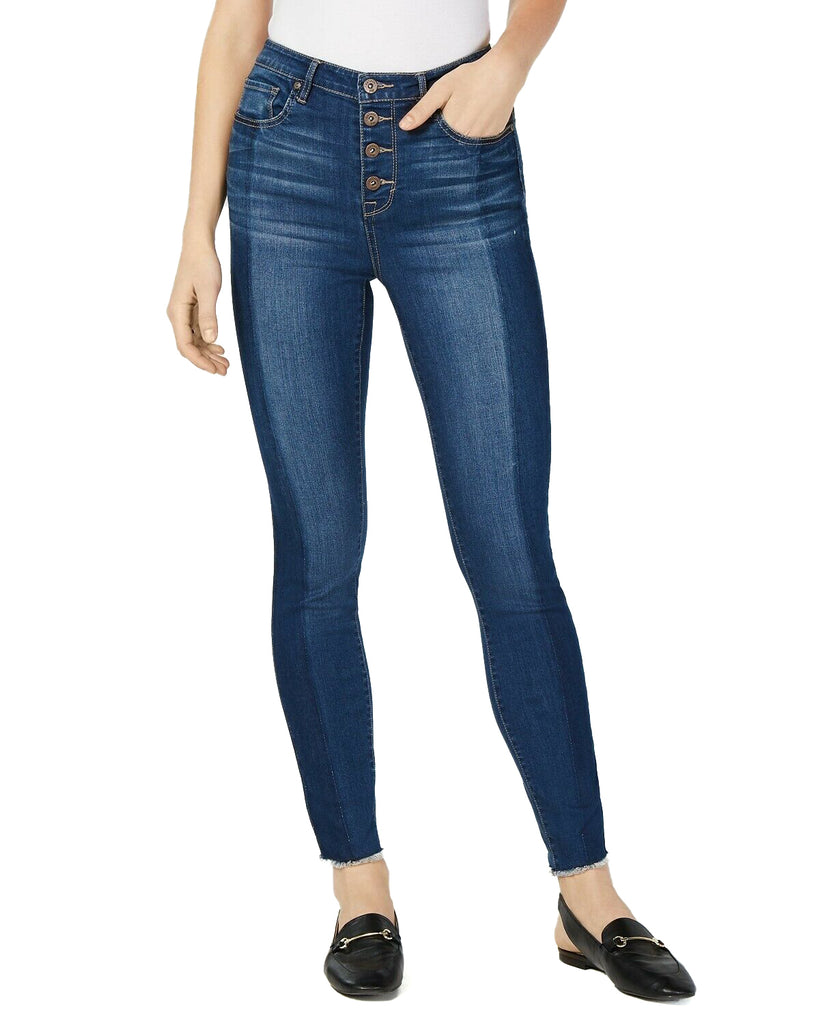 Yieldings Discount Clothing Store's Fitted Button-Fly Ankle Jeans by Maison Jules in Glory Wash