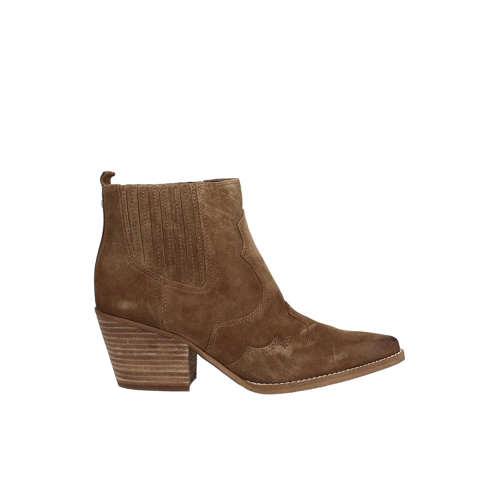 Yieldings Discount Shoes Store's Winona Western Booties by Sam Edelman in Hazelnut Suede