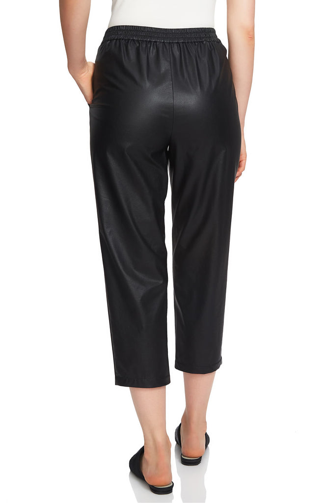 Yieldings Discount Clothing Store's Boy Meets Girl Slim Leg Seamed Faux Leather by 1.State in Rich Black