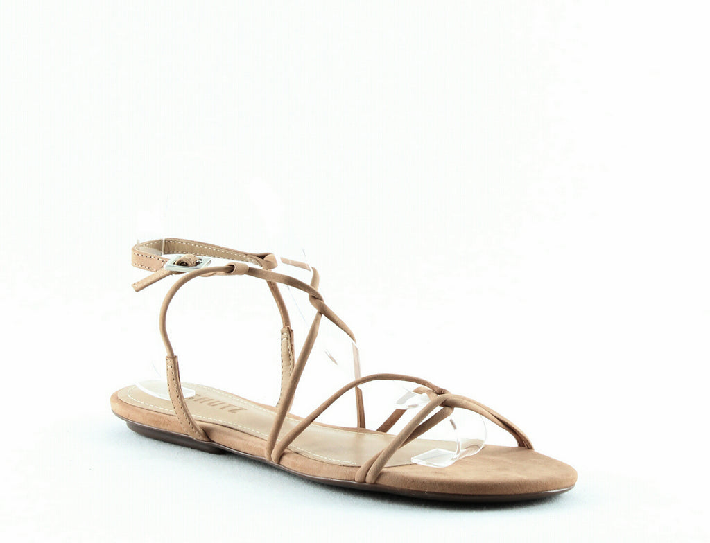 Yieldings Discount Shoes Store's Boyet Strappy Suede Sandals by Schutz in Honey Beige