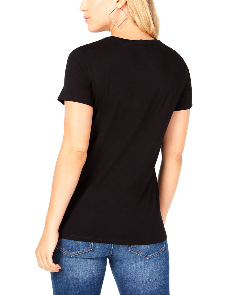 Yieldings Discount Clothing Store's Paradise Rock Graphic Tee by Guess in Jet Black