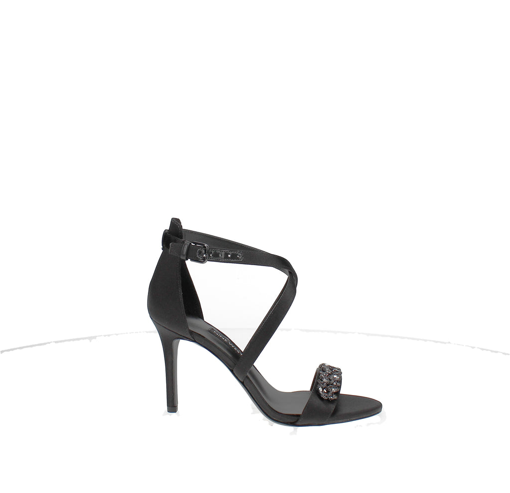 Yieldings Discount Shoes Store's Mikkhaila Evening Sandal by Nine West in Black