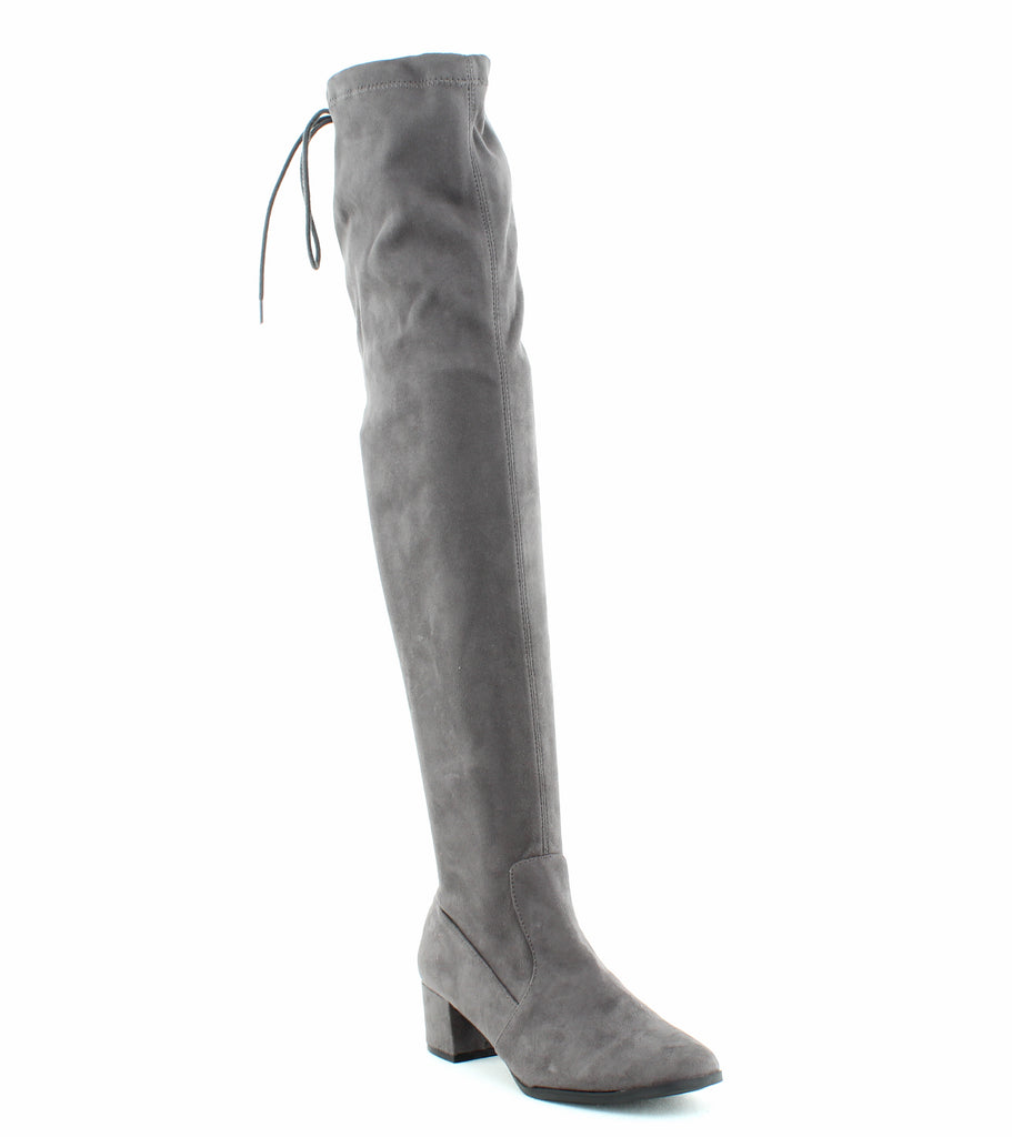 Yieldings Discount Shoes Store's Mystical Over-The-Knee Boots by Chinese Laundry in Gunmetal