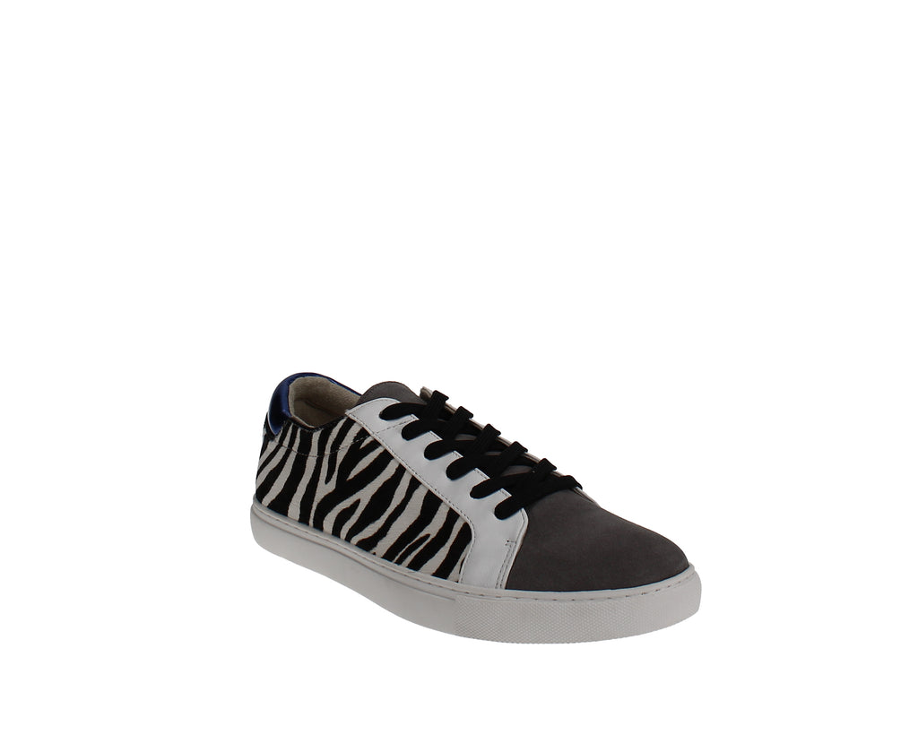 Yieldings Discount Shoes Store's Kam Lace-Up Sneakers by Kenneth Cole in Black/White