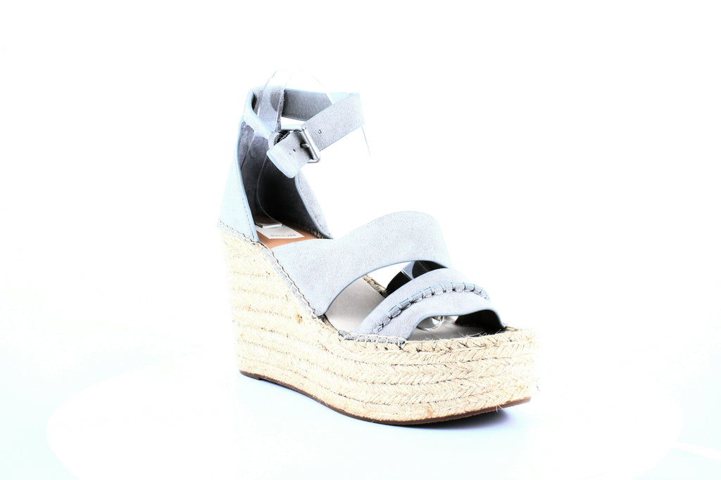 Yieldings Discount Shoes Store's Simi Espadrille Platform Wedge Sandals by Dolce Vita in Smoke Suede