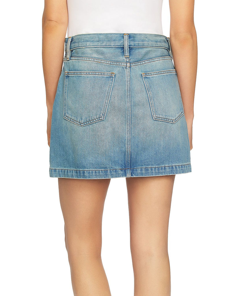 1.State | Essentials A-Line Zip Front Mini Skirt
