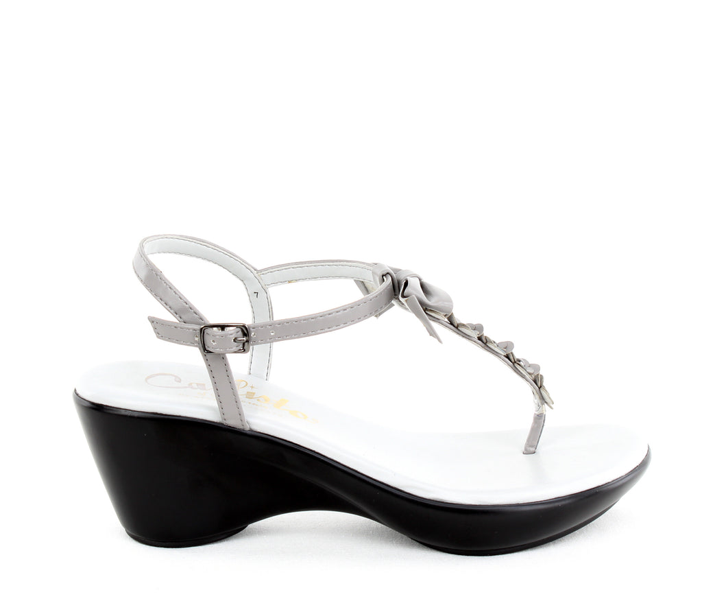 Yieldings Discount Shoes Store's Laureen Heeled Sandal by Callisto Of California in Grey