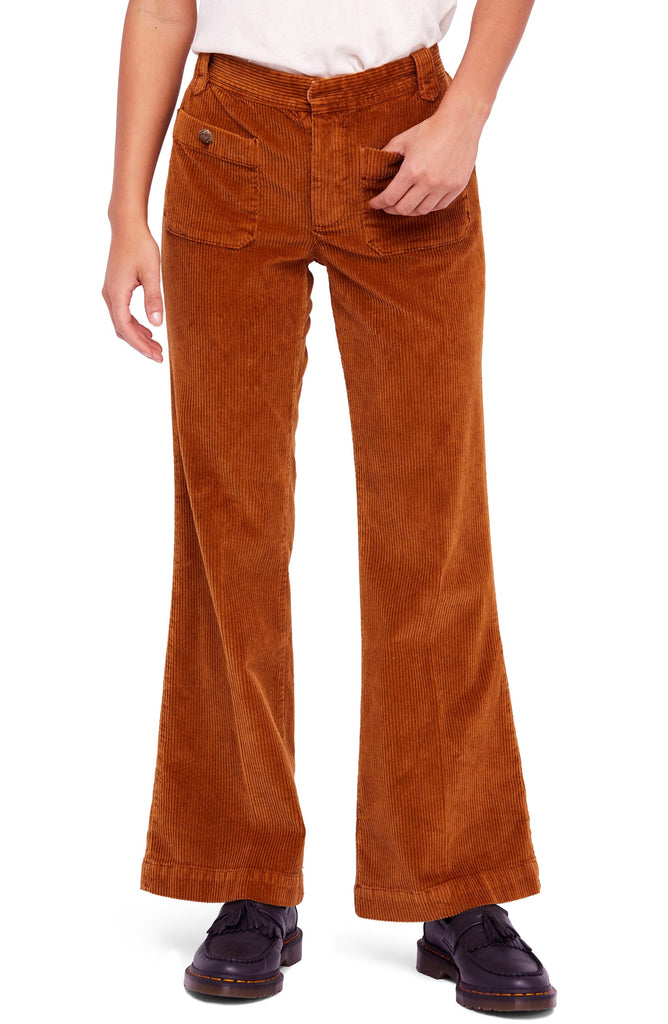 Free People | Hip Hugging Flared Corduroy Pants