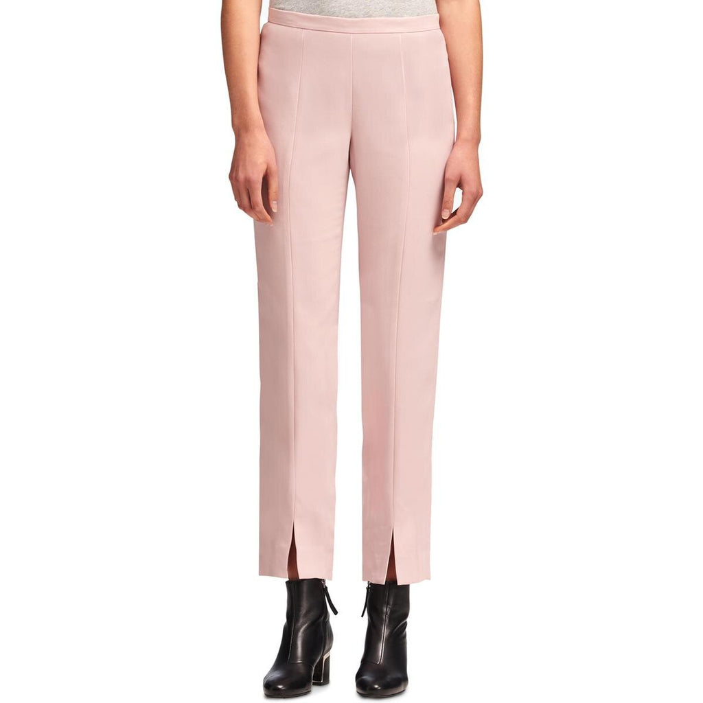 Yieldings Discount Clothing Store's Dkny Front-Slit Straight-Leg Pants by DKNY in Blush
