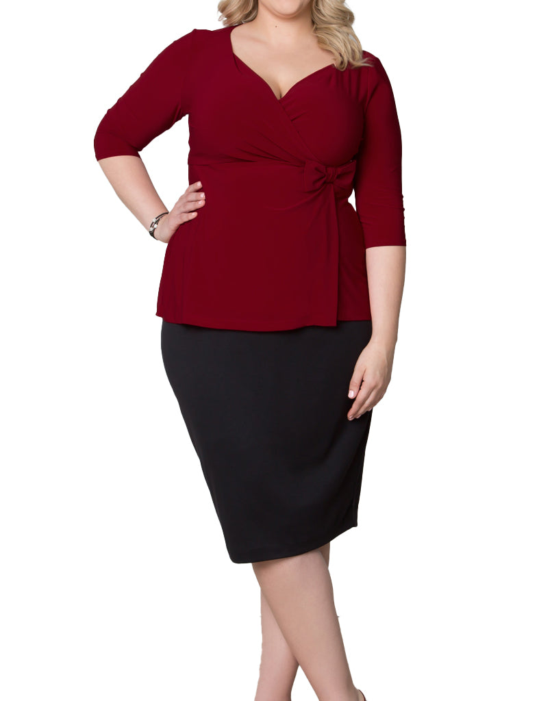 Yieldings Discount Clothing Store's Curvy Pencil Skirt by Kiyonna in Black