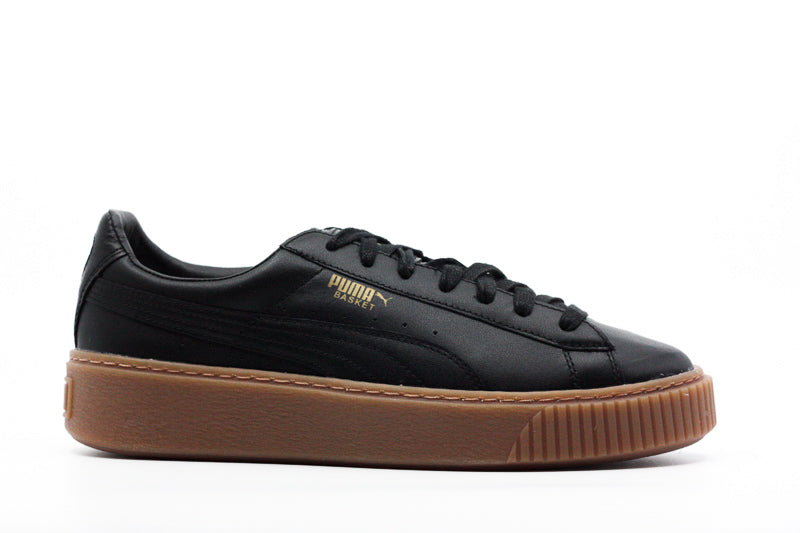 Yieldings Discount Shoes Store's Basket Platform Core Sneakers by Puma in Black